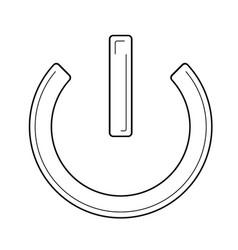 power button line icon vector image