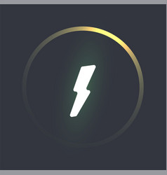 power button template glowing lightning vector image