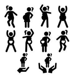 Pregnancy exercise yoga or pilates vector