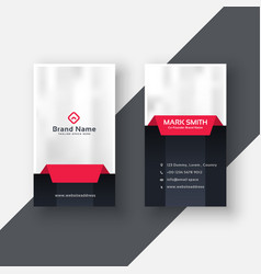 Professional vertical business card modern design vector