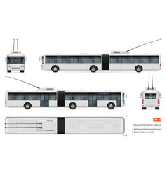 realistic trolleybus vector image