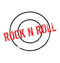Rock n roll rubber stamp vector