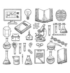 science and research laboratory sketch vector image