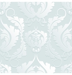 Seamless Floral 3d pattern Damascus Elegant large vector image