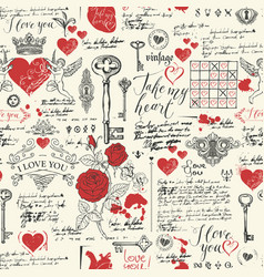 seamless pattern on theme declarations love vector image