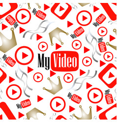 seamless pattern video vector image