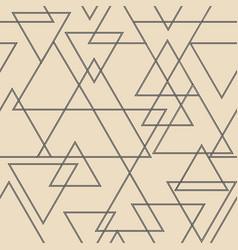 seamless triangular pattern white and black vector image