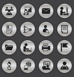 Set of 16 editable bureau icons includes symbols vector