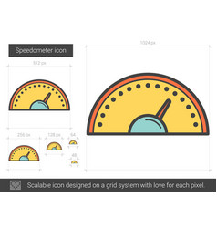 speedometer line icon vector image