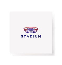 Sport stadium arena logo design vector