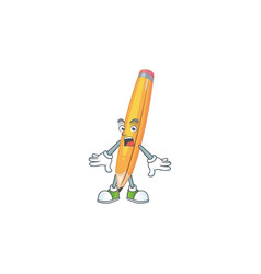 Surprised pencil stationery for in elementary vector