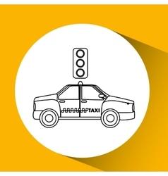 Taxi transportation semaphore signal vector