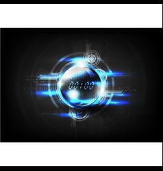 Technological global communication time modern vector