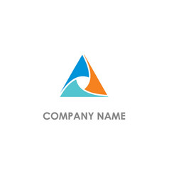 triangle colored company logo vector image