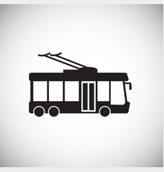Trolley bus on white background vector