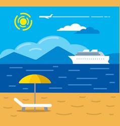 tropical beach resort vector image