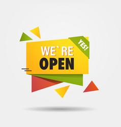 We are open again after coronavirus quarantine vector