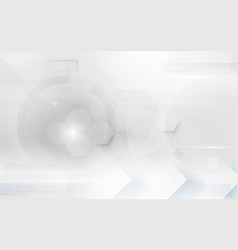 white abstract technology digital hi tech vector image