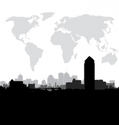 World cityscape vector