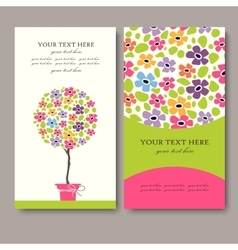 Business Card Set EPS10 vector image vector image