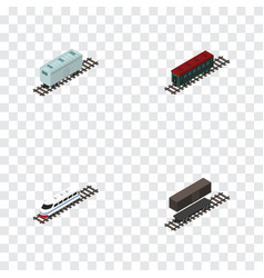 isometric transport set of delivery tank vector image vector image