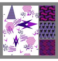 Retro vintage 80 Memphis style of fashion vector image vector image