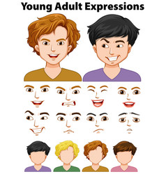 young people expressions with different faces vector image