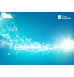 Abstract blue shape vector image vector image