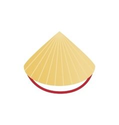 Conical straw hat icon isometric 3d style vector image vector image
