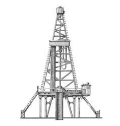 oil rig logo design template petroleum or vector image