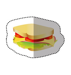 sandwich fast food icon vector image vector image