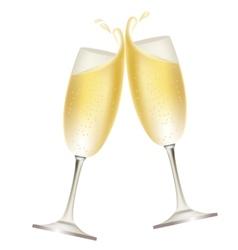 champagne splash vector image vector image