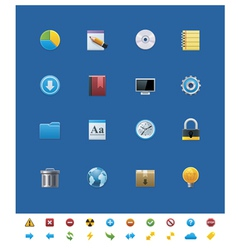 common website icons for webmasters vector image vector image