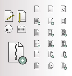 File Document Icons vector image vector image