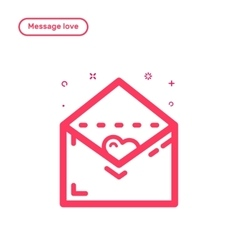 icon concept message with vector image vector image