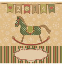 New year 2014 with the horse vector image vector image