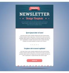 Newsletter design template vector image vector image