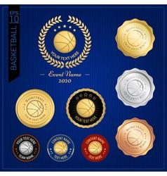 Set of basketball badge label or emblem for sport vector image vector image