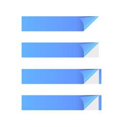 sticker banner blue vector image