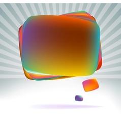 Abstract speech bubble EPS8 vector image