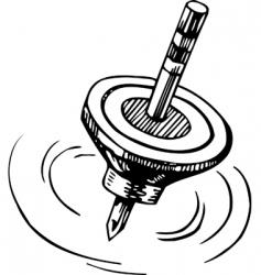 rotating whirligig vector image vector image