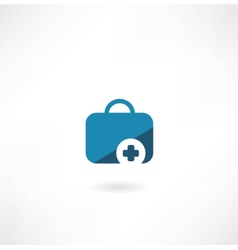 suitcase with cross icon vector image