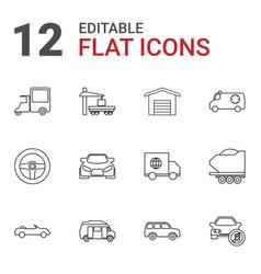 12 auto icons vector