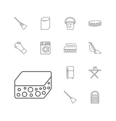 13 household icons vector