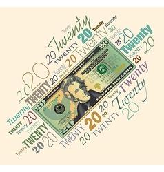 20 Typography Money vector