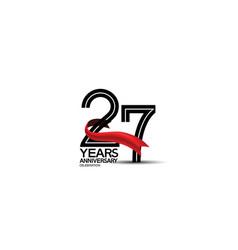 27 years anniversary logotype flat black color vector