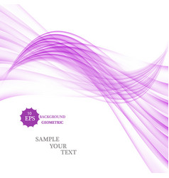 abstract background blue and violet waved vector image