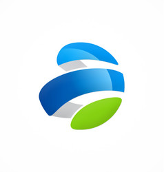 Abstract sphere technology company logo vector