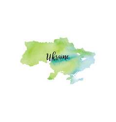 abstract ukraine map vector image