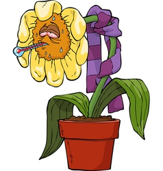 ailing flower vector image
